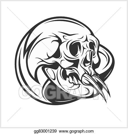 Eps illustration demon on. Clipart skull demonic