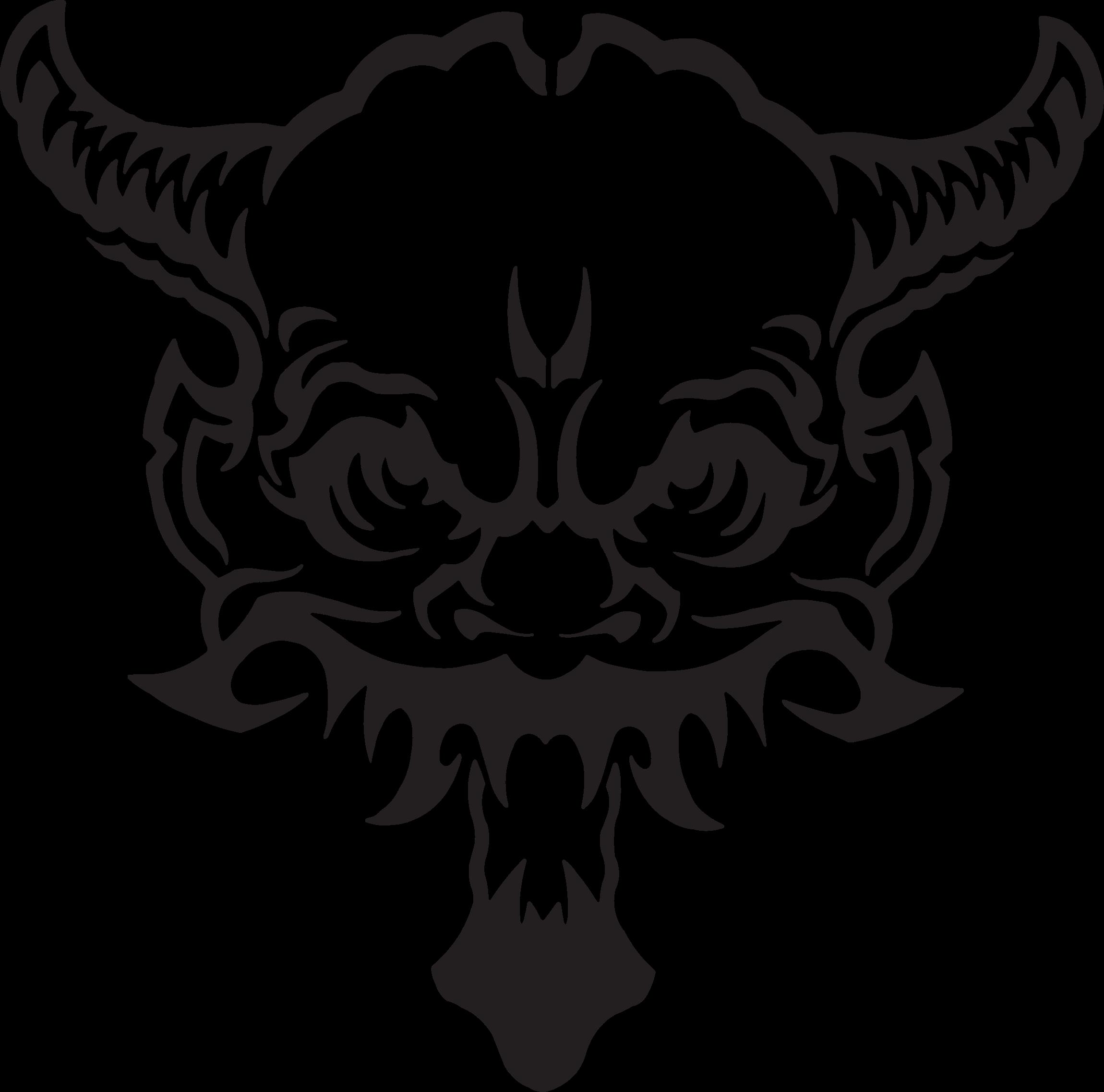 Clipart skull demonic. Demon big image png