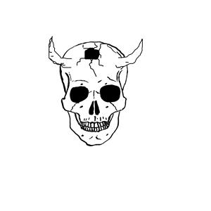 Clipart skull demonic. Demon cliparts of free