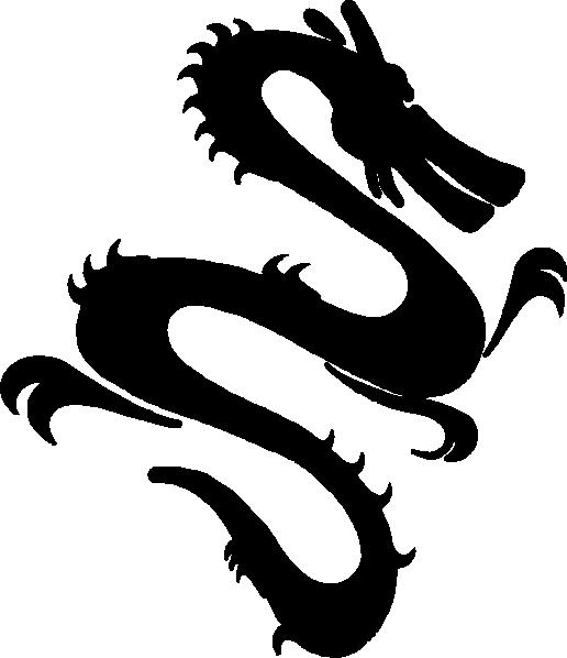 Dragon clip art at. Fire clipart silhouette