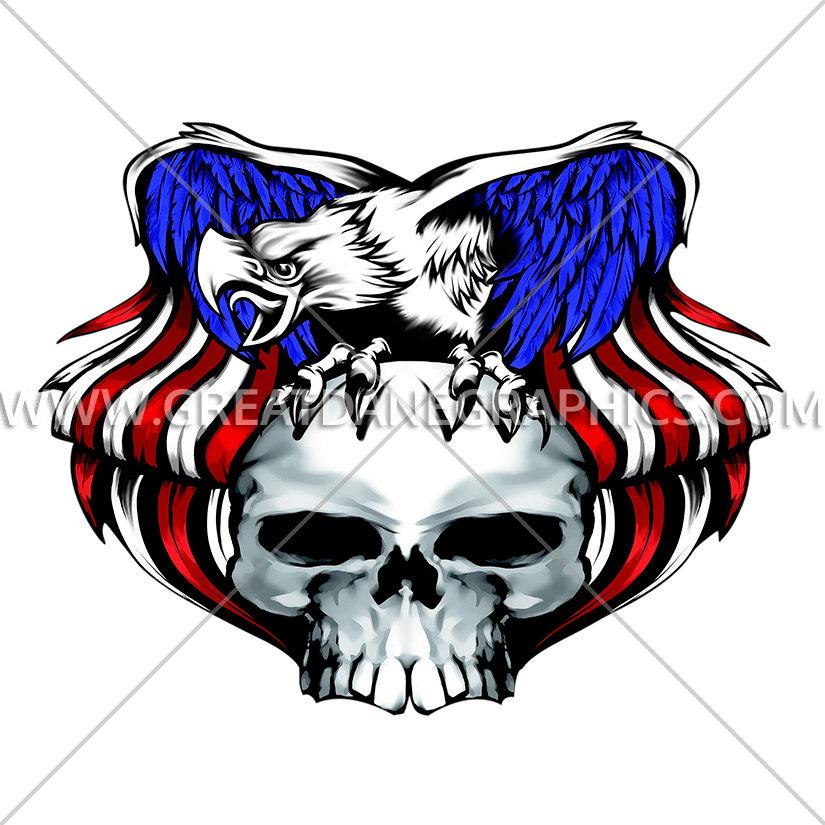 Wing clipart skull. Eagle production ready artwork