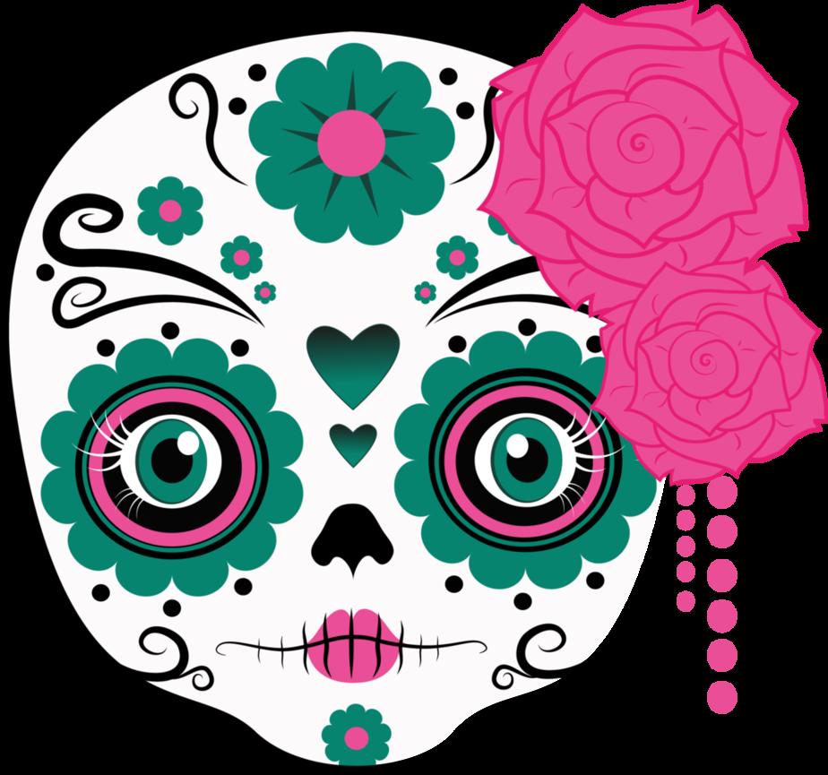Image sugar png survivor. Clipart skull feminine