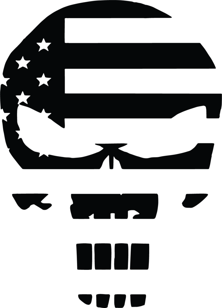 Patriots clipart decal. Punisher skull american flag
