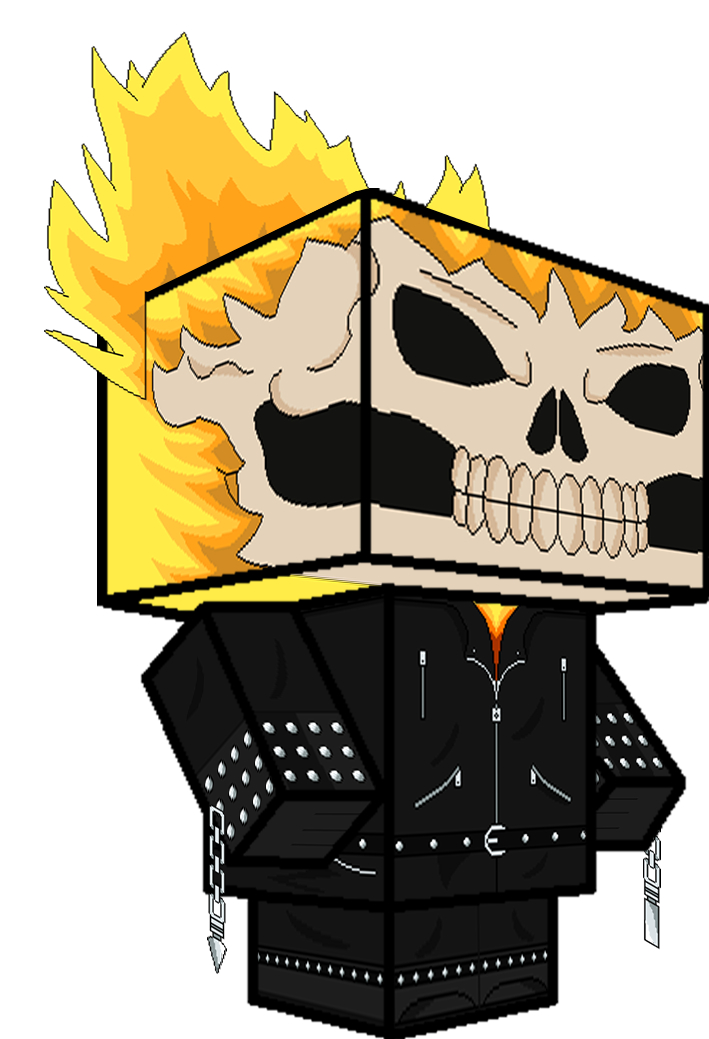 Clipart skull ghost rider. D by zienaxd on