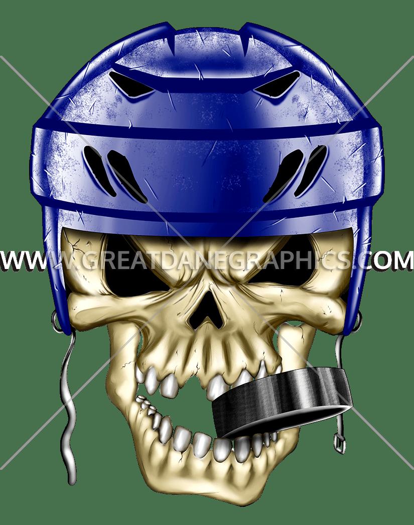Production ready artwork for. Hockey clipart skull