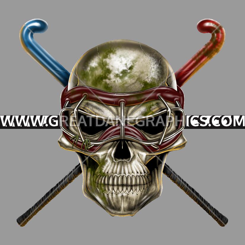 Field production ready artwork. Hockey clipart skull