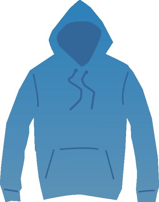 Blue i royalty free. Hoodie clipart zip hoodie
