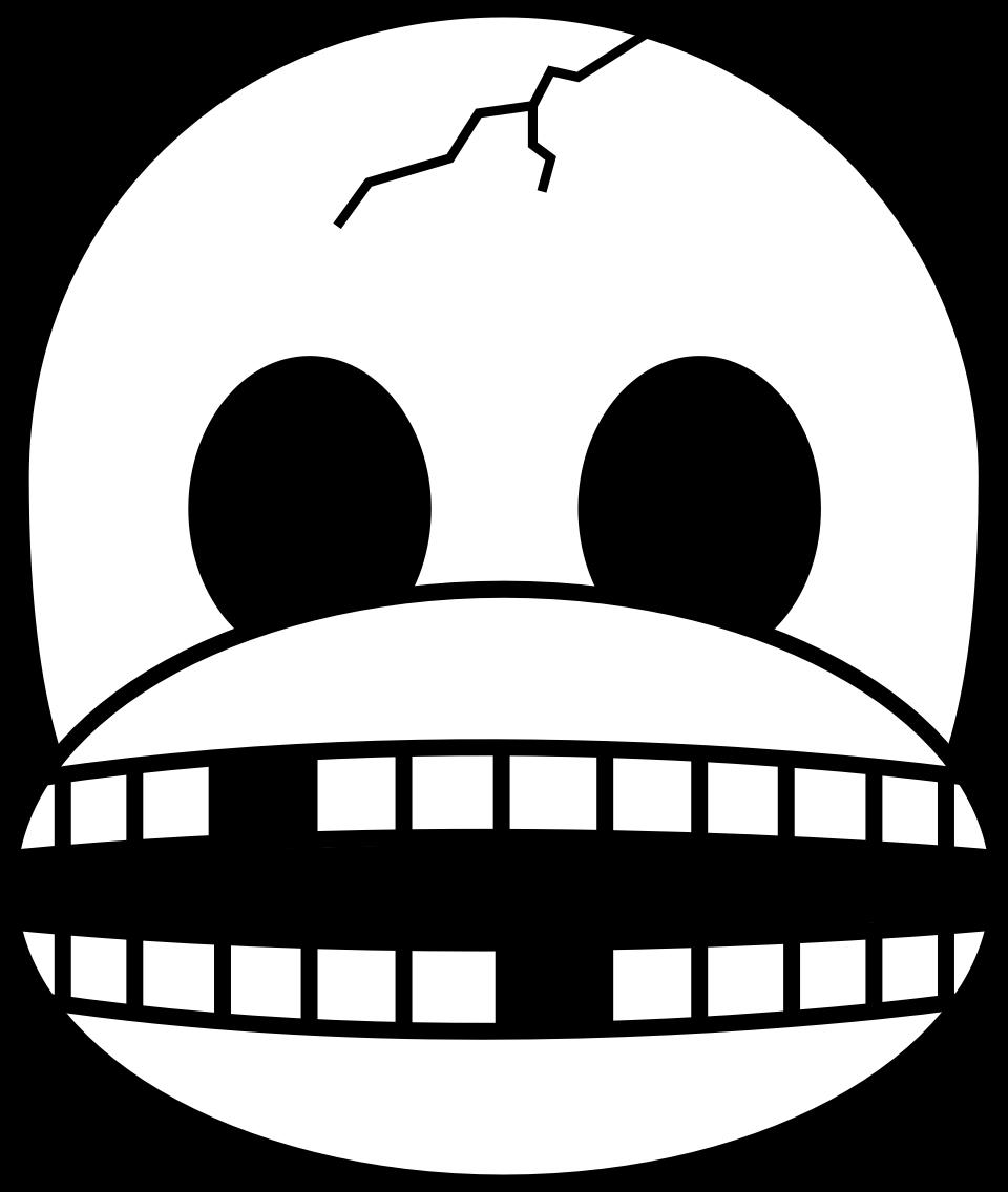 Emoji clipart coloring. Monkey skull big image