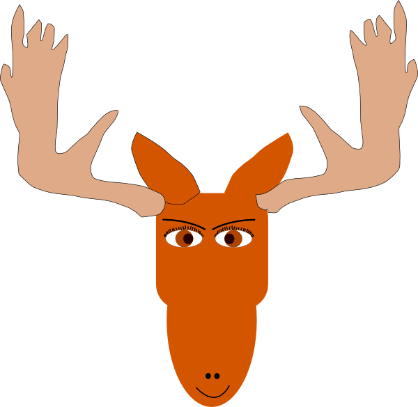 Moose clip art at. Mad clipart ram