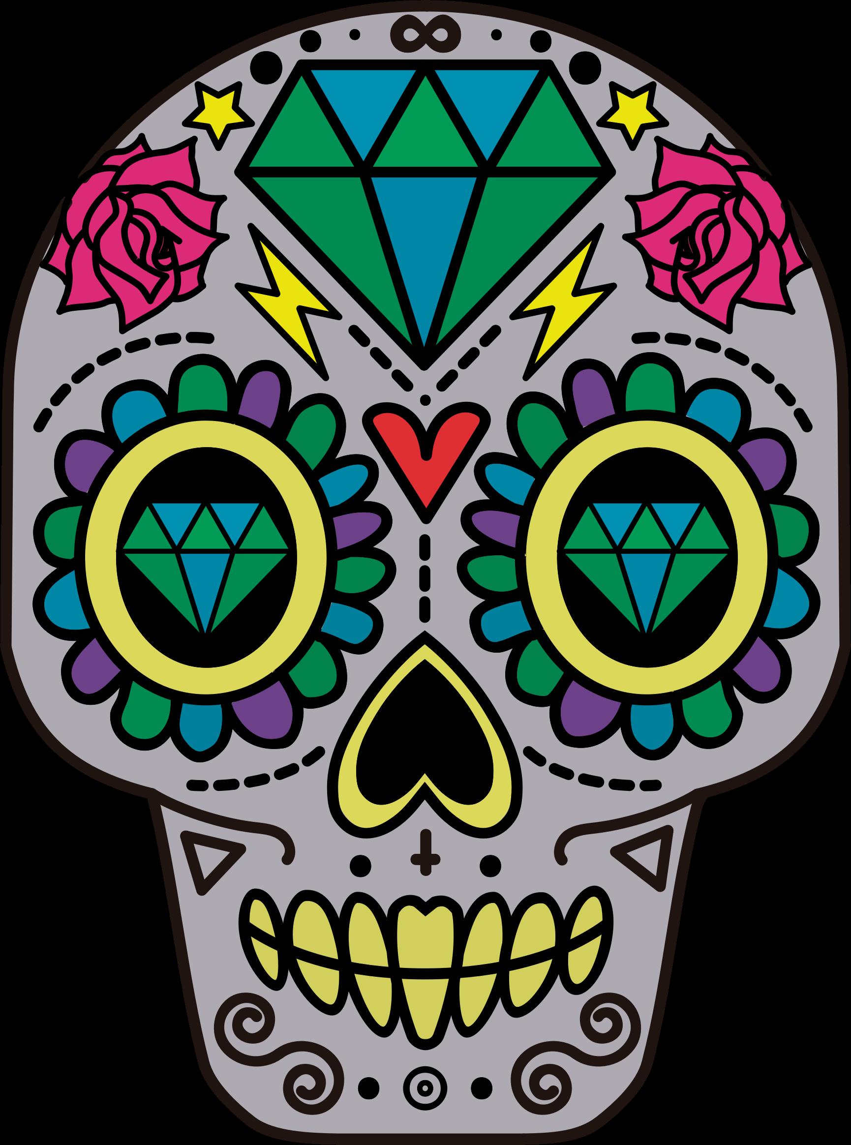 Clipart - Decorative Sugar Skull