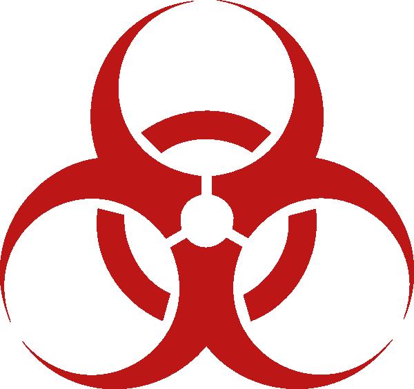Location clipart symbol small. Biohazard red clip art