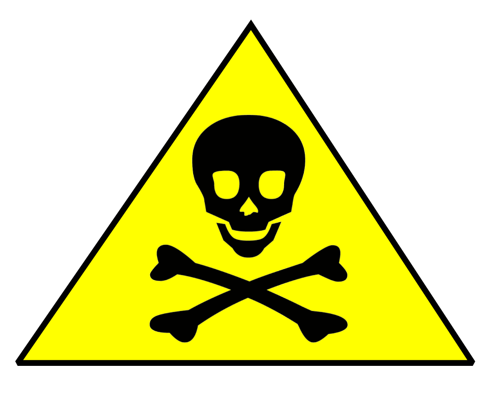 Toxic group symbol pencil. Stamp clipart warning