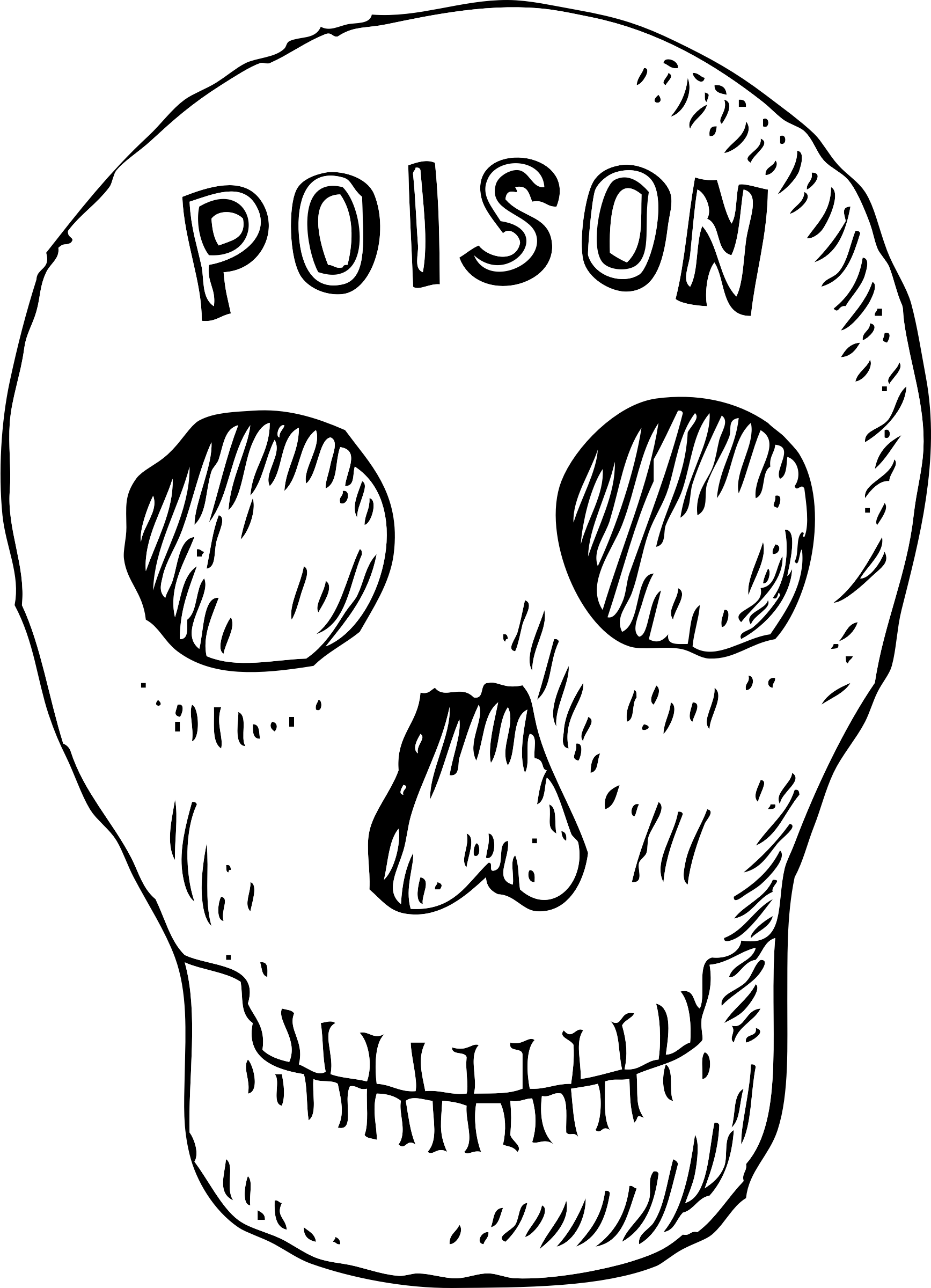 Poison clipart poison control. Skull big image png