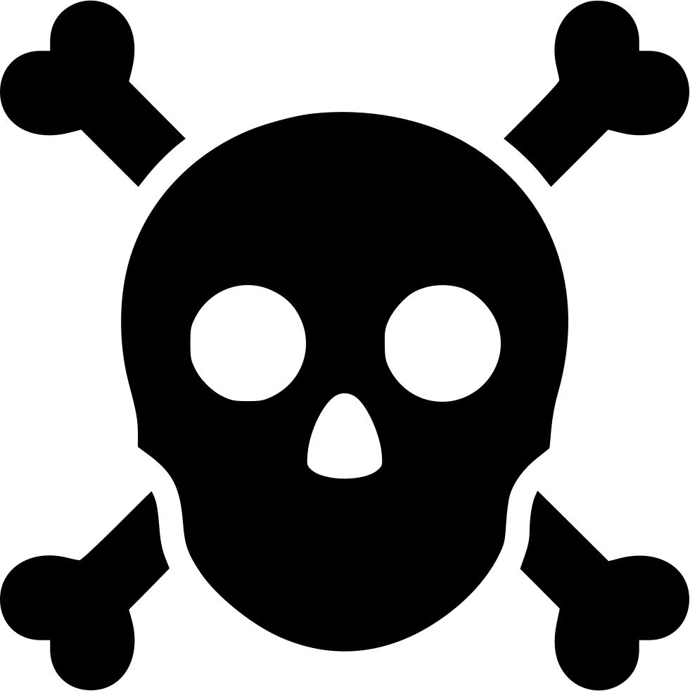 Skull crossbones anatomy warning. Poison clipart poison control