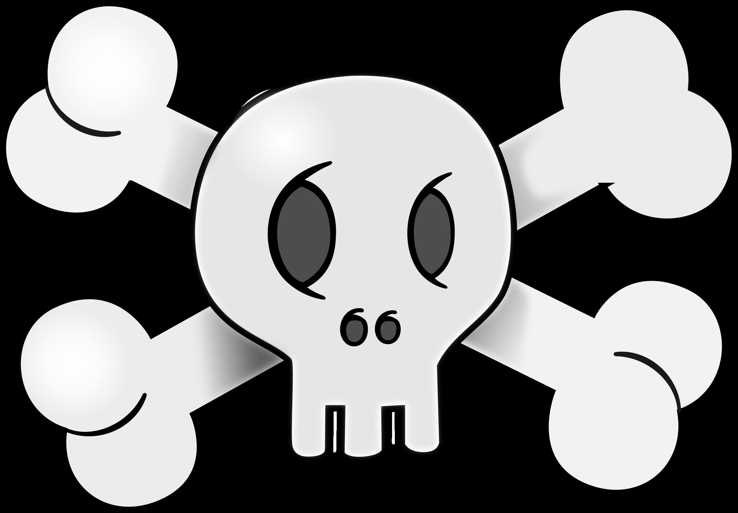 Skeleton clipart animated. Skull big image png
