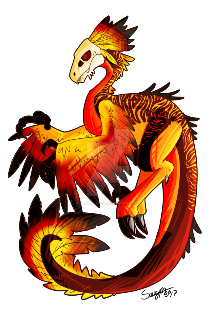 Necro raptor adult adoptable. Hunter clipart savage