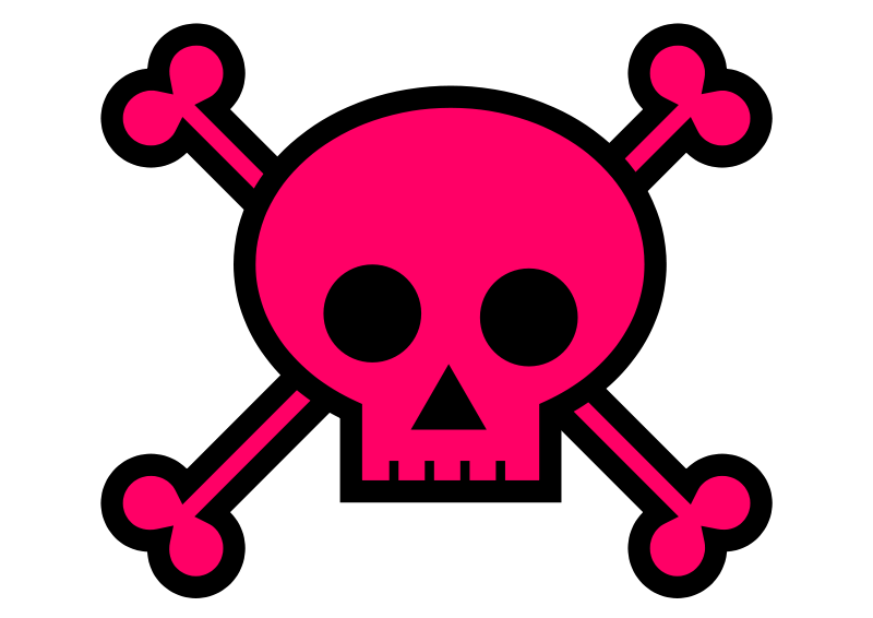 Skull free to use. Girly clipart black and white
