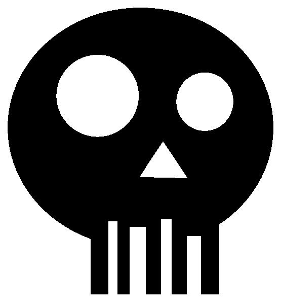 Skull vector png. Simple px stencil logo
