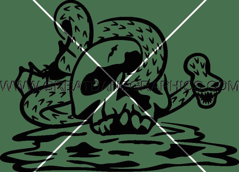 Production ready artwork for. Snake clipart skull