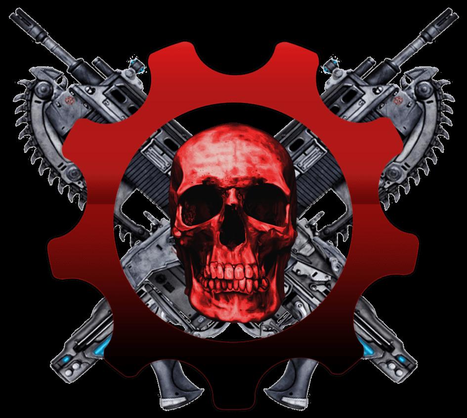 Gears of war transparent. Clipart skull soldier