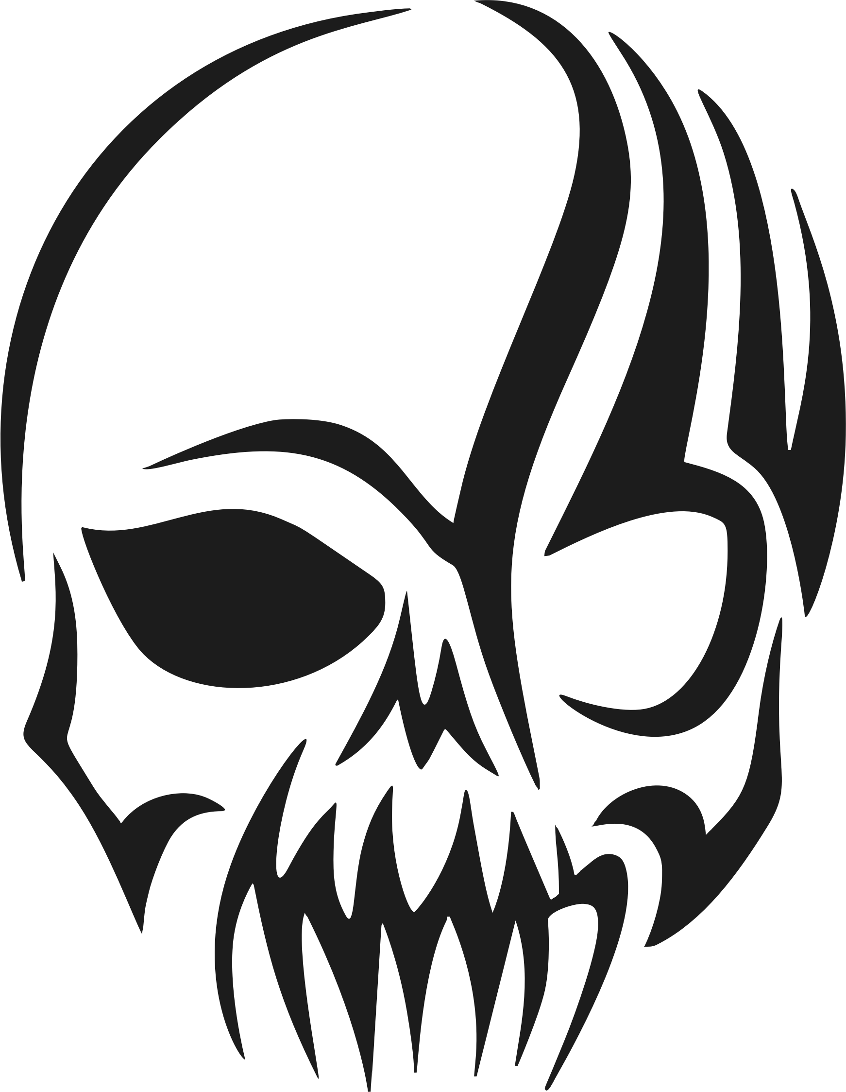 Silhouette clip art at. Longhorn clipart sugar skull