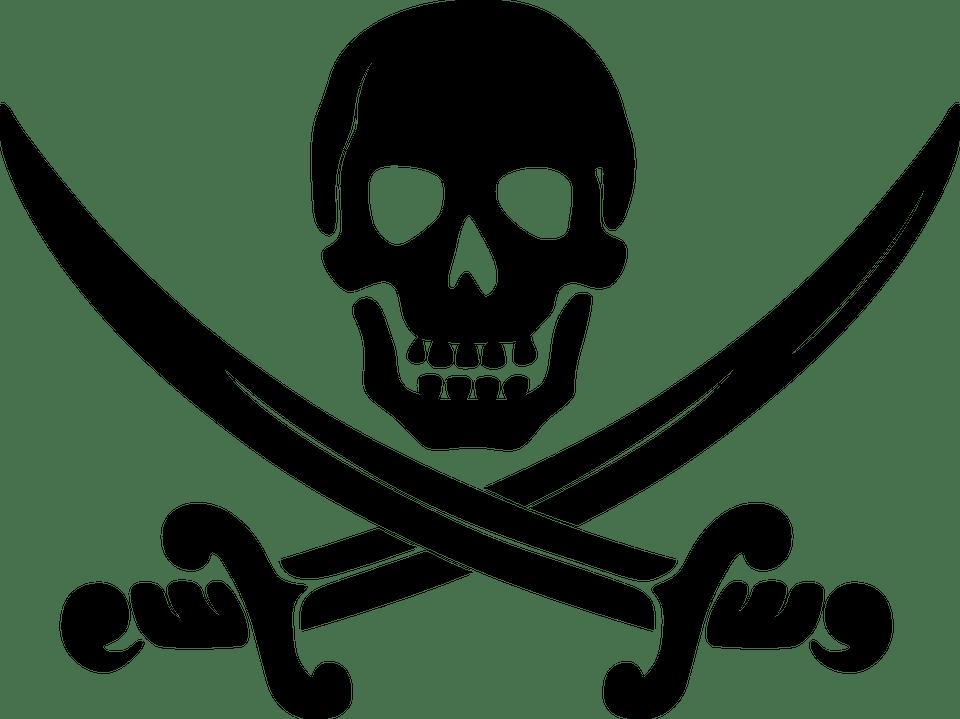Pirate clipart sword. Pirates swords skull transparent