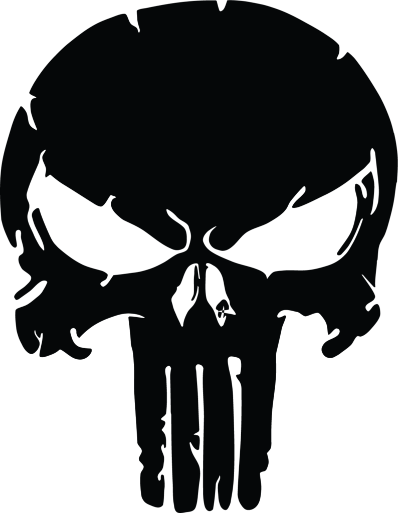 Distressed punisher us military. Clipart skull welder