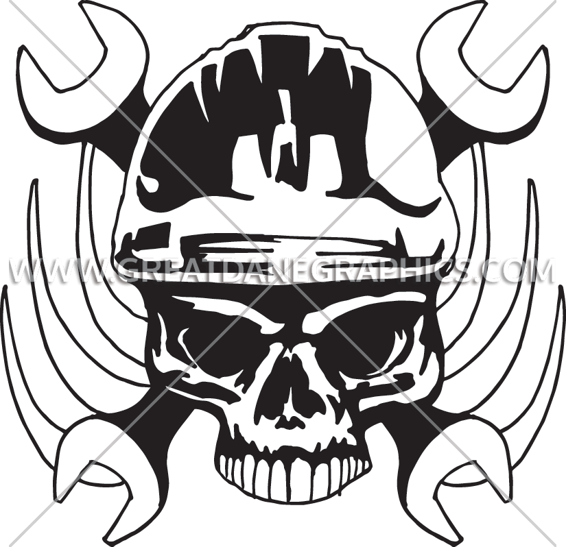 Clipart skull welder. Wrench production ready artwork