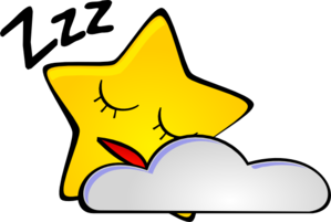 Sleeping clipart. Star clip art at