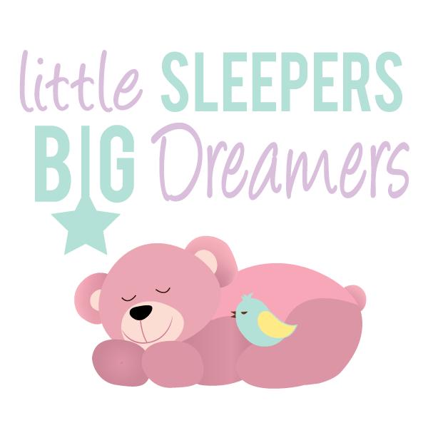Clipart sleeping bedtime. Little sleepers big dreamers