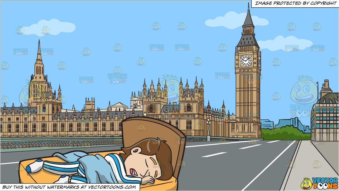 Clipart sleeping comfy bed. A man enjoying good