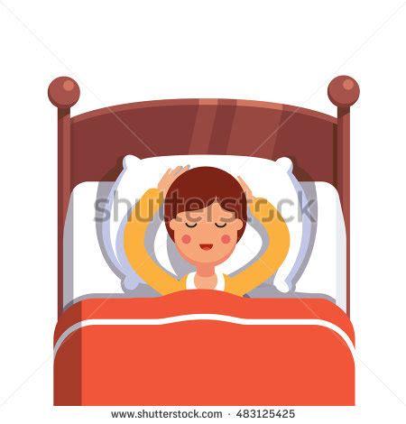 Cartoon pillow . Clipart sleeping comfy bed