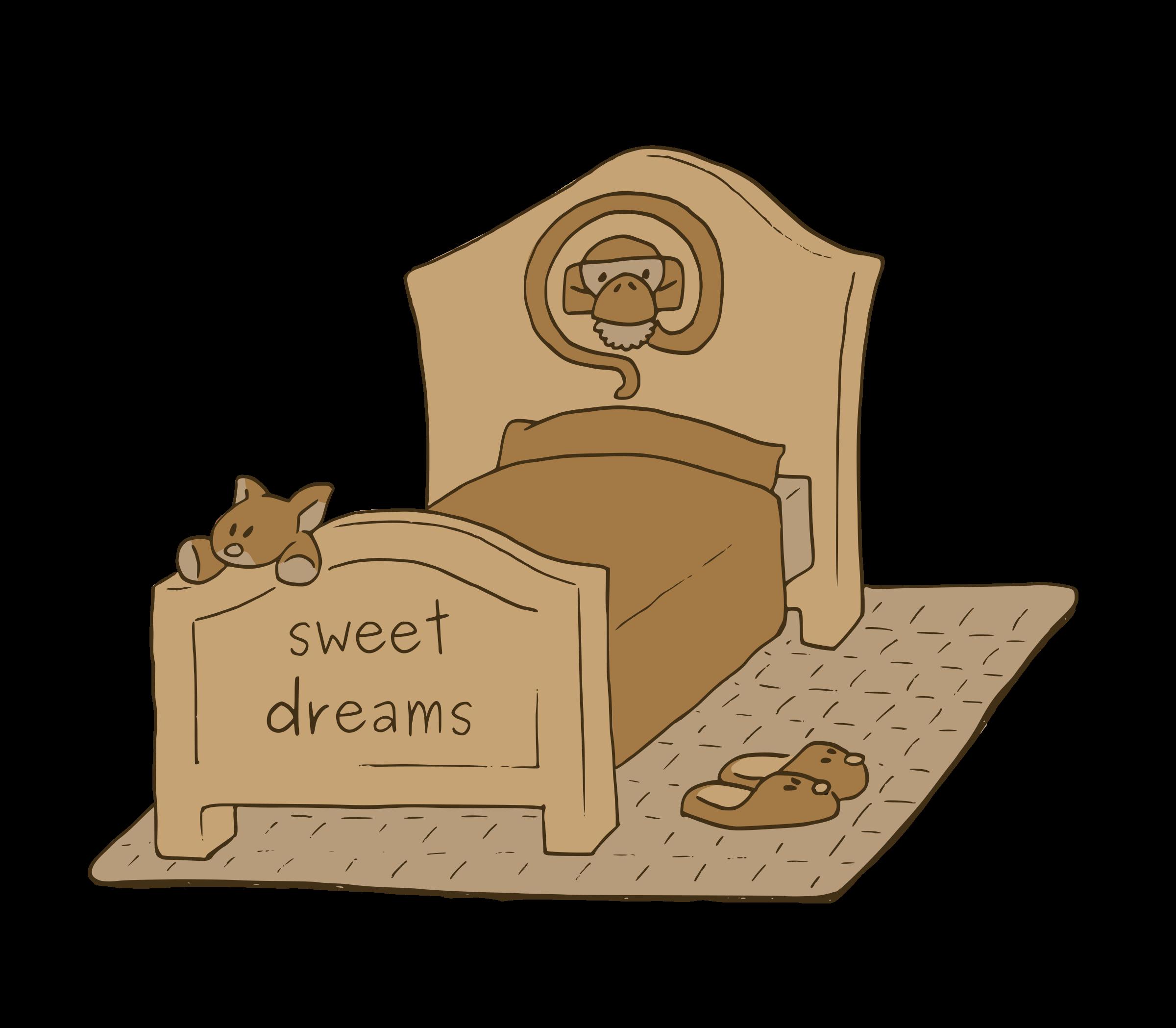Clipart sleeping cozy bed. Sweet dreams big image
