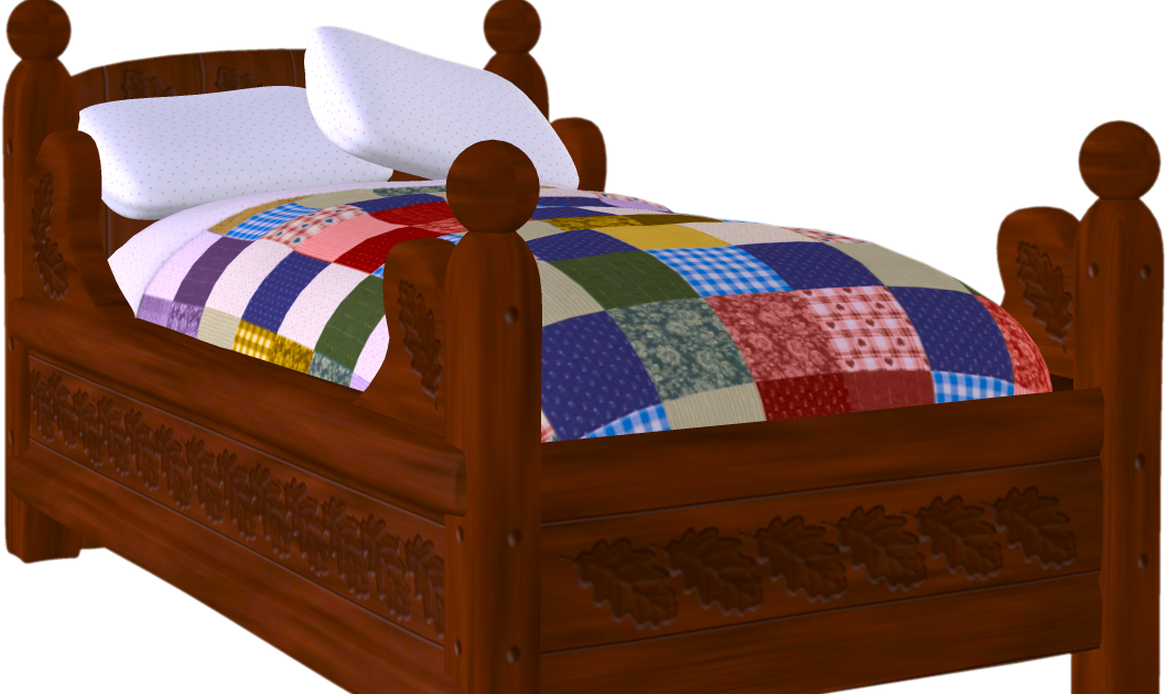 The best examples of. Clipart sleeping cozy bed
