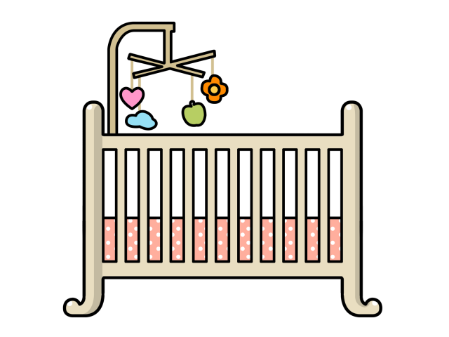 Crib cliparts free download. Nursery clipart cradle