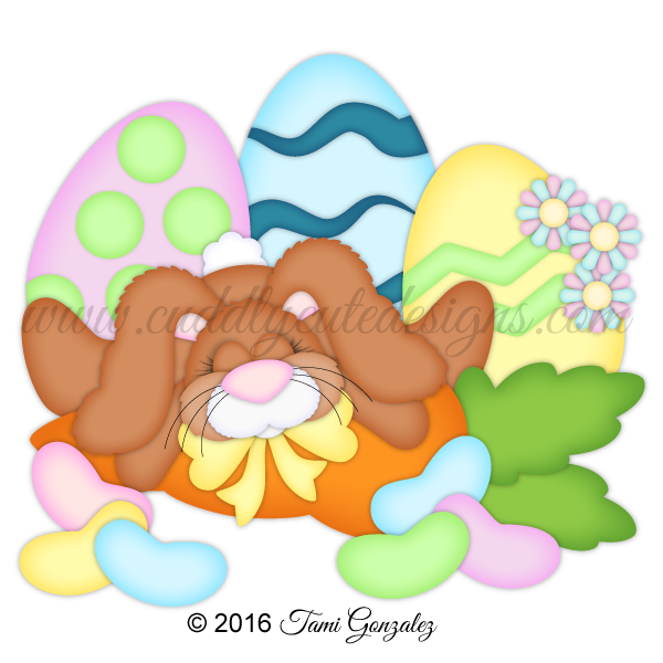 Clipart sleeping hare. Easter bunny