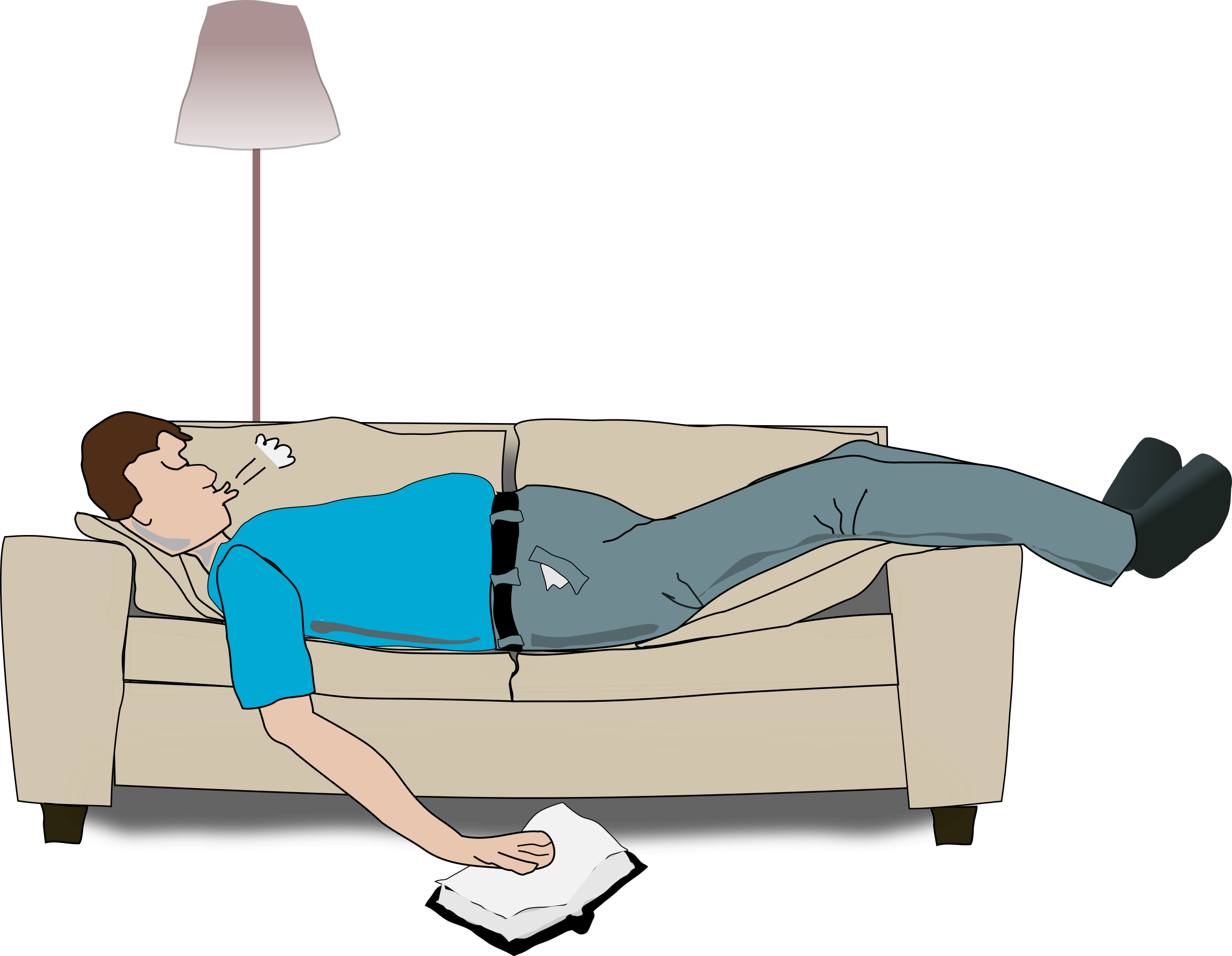Furniture clipart cartoon. Sleeping big image png