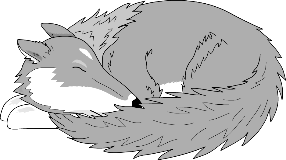 Sleeping by versilaryan on. Wing clipart wolf