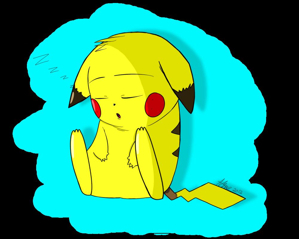 By kaggykins on deviantart. Clipart sleeping pikachu