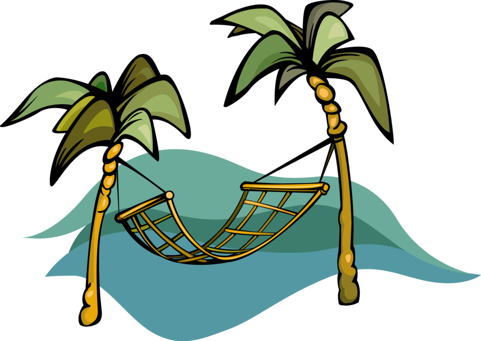 Palm clipart hammock. For swinging sleeping or