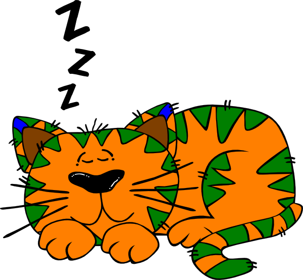 clipart sleeping siesta