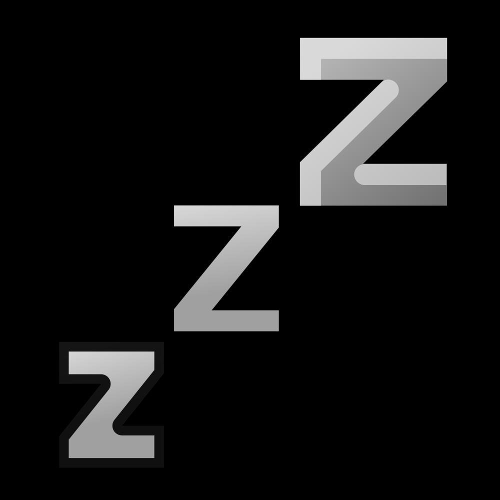 Clipart sleeping sleep schedule. File zzz svg wikimedia