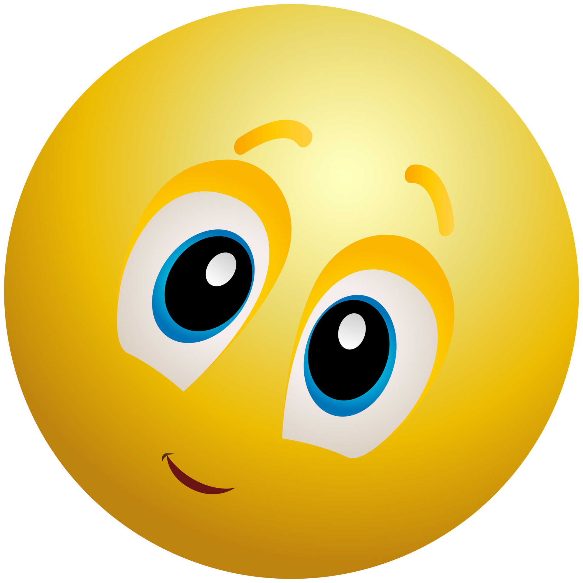 Kindly face emoticon emoji. Clipart smile crooked smile