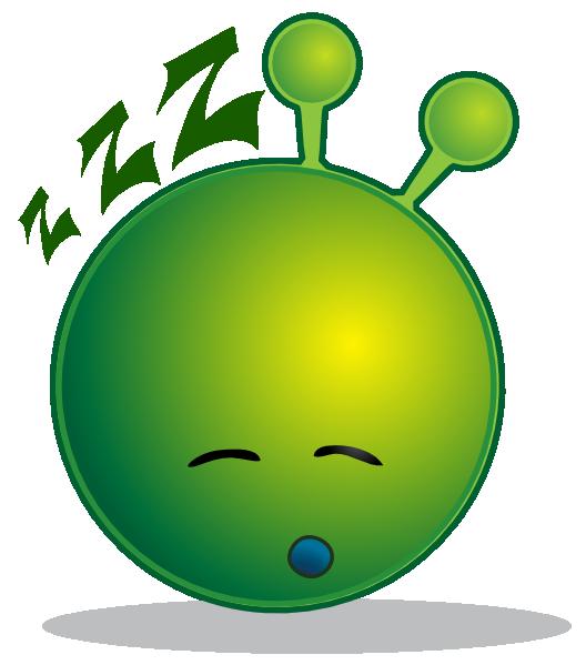 Tired clipart svg. Smiley green alien sleepy