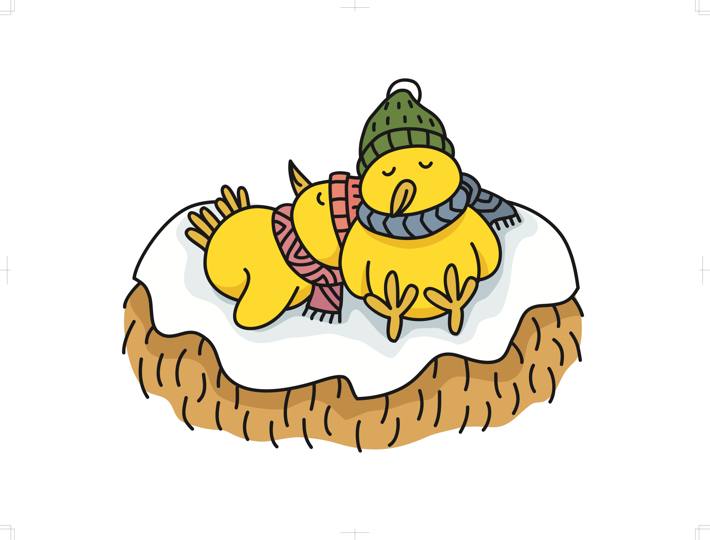 Chicks big image png. Clipart sleeping winter