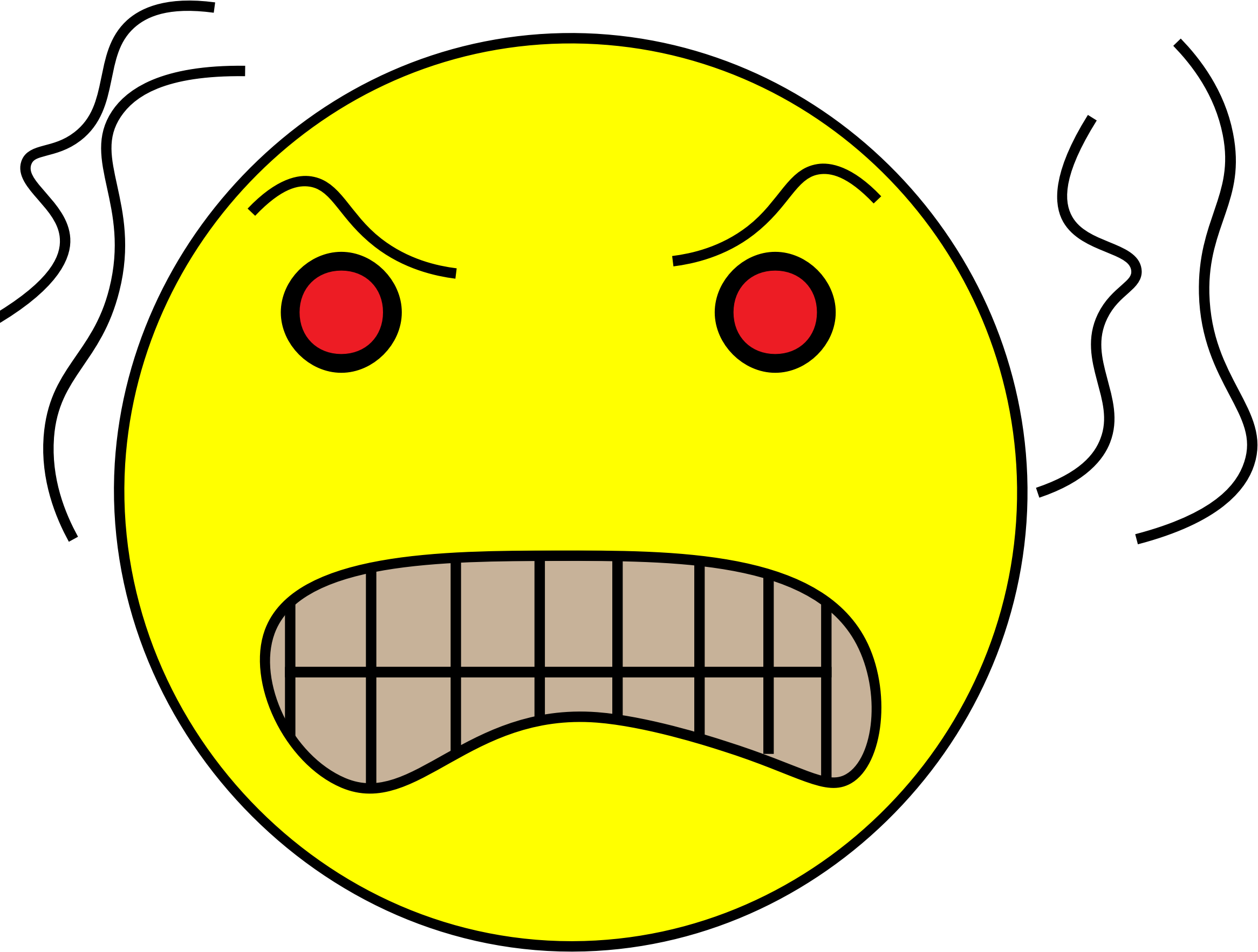 Frustrated clipart frustration face. Yellow angry head big