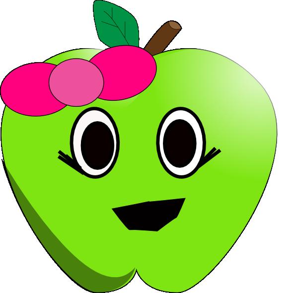 Smilling little clip art. Clipart smile apple