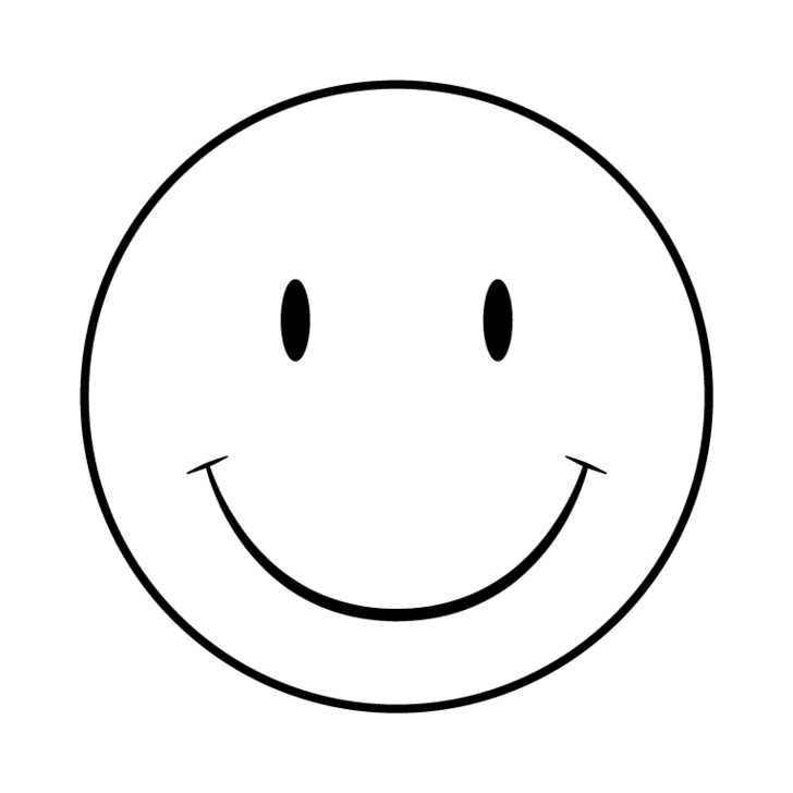 Smiley clipart outline.  collection of face