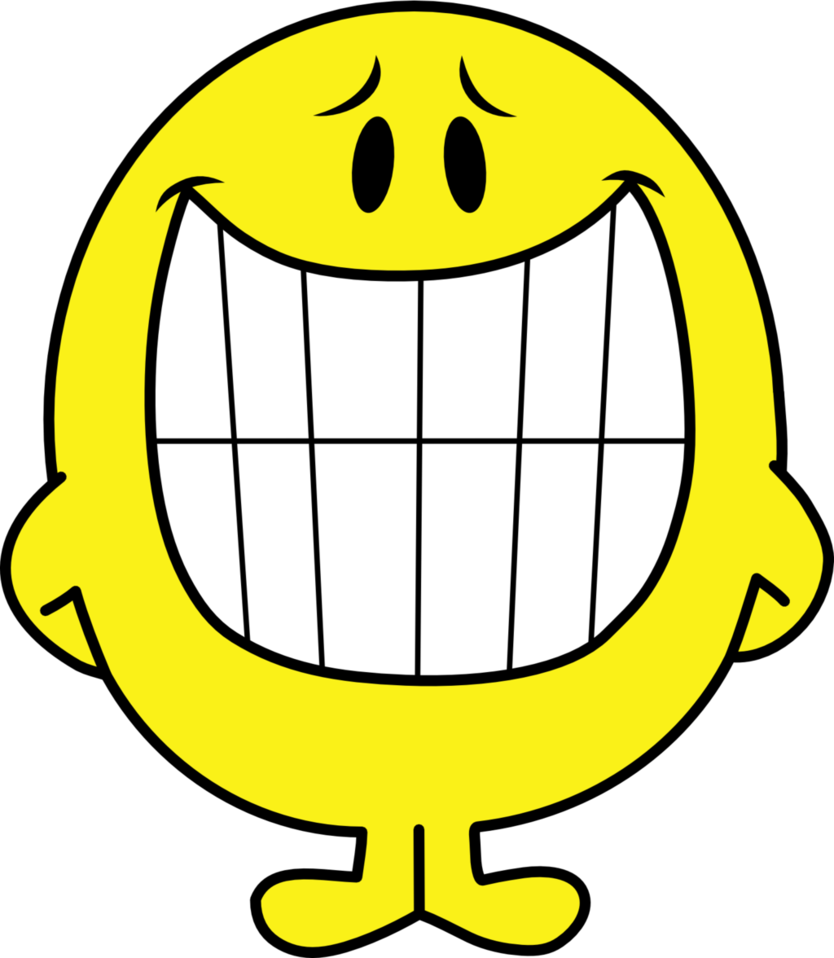 Clipart smile blithe. Mr happy by mighty