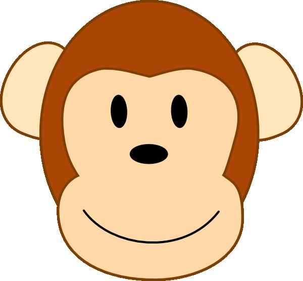 Thinner smiling brown monkey. Clipart smile border